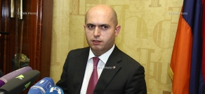 Press conference of Armenian Minister of Education and Science Armen Ashotyan