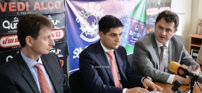 Press conference of Alexander Yesayan, Hayk Chobanyan and Raffi Kassarjian