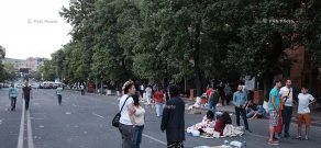 June 24: Baghramyan ave. in the morning after the protest