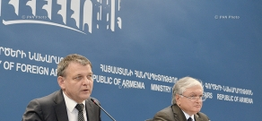Joint press conference of Armenian Minister of Foreign Affairs Edward Nalbandyan and