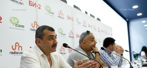 Press conference on Bi-2 rock band's concert in Yerevan