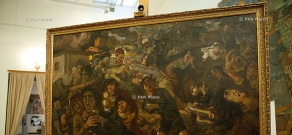 "Akim Avanesov's ""From century to century"" painting  in the National Gallery of Armenia"