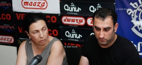 Press conference of director Suren Shahverdyan and singer Lilit Pipoyan