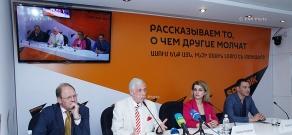Press conference of Alexander Gurnov, Leonid Mlechin, Isabella Pashinyan and Roman Babayan