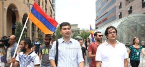 Stand up, Armenia initiative's march along Baghramyan avenue towards Melik Adamyan street