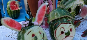 Watermelon festival near Yerevan's Swan Lake
