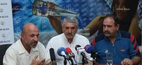 Press conference of Vova Vardanov and Yura Mikaelyan