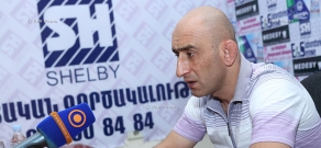 Press conference of Armenia's national freestyle wrestling coach Arayik Baghdasaryan