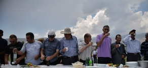 Mountainous raspberry festival in the Aragats community