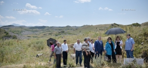 Press tour around Cyclopean fortress and art school of Lchashen