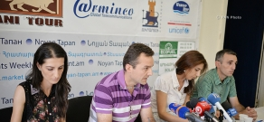 """Press conference of """"No to Robbery"""" civic initiative's members"""
