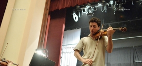 Concert rehearsal of Philharmonic Orchestra and violinist Sergey Khachatryan, dedicated to Armenian Genocide Centennial