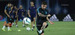 UEFA Super Cup 2015: Open training of FC Barcelona