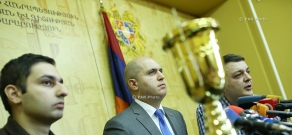 Press conference of Armenian Minister of Education and Science Armen Ashotyan and Head of the Armenian Association of Intellectuals Tigran Kocharyan