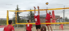 "Beach volleyball in Sevan in the frameworks of  ""Be active, live a healthy life"" program"