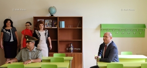 RA Minister of Education and Science Armen Ashotyan visits Yerevan High Sschool №170