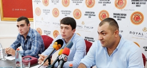 Press conference of Edgar Stepanyan, Pavel Stepanyan and Armen Gyozalyan