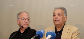Press conference of Israel Philharmonic Orchestra's conductor Zubin Mehta