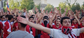 Fans before Armenia vs. Denmark football match: Euro 2016 Qualifying