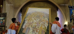 Icon of Genocide martyrs taken to Saint Gregory the Illuminator Cathedral in Yerevan
