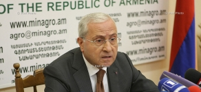 Press conference of Minister of Agriculture Sergo Karapetyan
