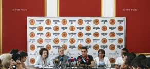 Press conference of memebers of Armenian National Philharmonic Orchestra