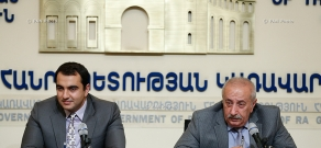 Press conference of Deputy Minister of Energy and Natural Resources of Armenia Hayk Harutyunyan and director of National Centre for Legislative Regulations Armen Yeghiazaryan