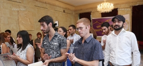 Youth of Ararat Patriarchal Diocese are awarded for  implementation of the program