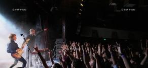 Progressing Yerevan rock concert featuring Norwegian Leprous band