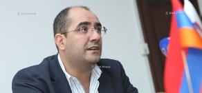 Press conference of ANOC secretary general Hrachya Rostomyan