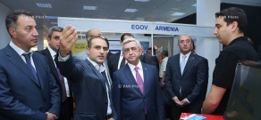 Armenian President Serzh Sargsyan attends DigiTec Expo international High-Tech exhibition 2015