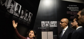French Secretary of State for European Affairs Harlem Désir visits Tsitsernakaberd Memorial and Armenian Genocide Museum-Institute
