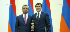 President Serzh Sargsyan receives awardees of 2015 RA President's Education Awards in IT sphere