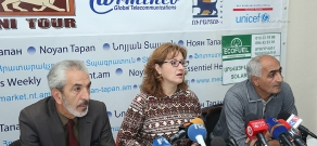 Press conference of former employees of Nairit plant