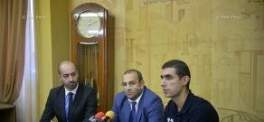 "Press conference launching ""Street Workout Armenian Championship"""