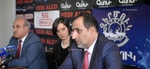 Press conference of National Consent party Leader Aram Harutyunyan and  RPA member Khosrov Harutyunyan