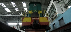Solemn ceremony of a renovated locomotive commissioning of the 'South Caucasian Railway'