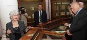 President of Croatia Stjepan Mesić visits Institute of Ancient Manuscripts Matenadaran