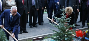 Delegation led by the Speaker of the Council of the Federation of the RF Federal Assembly Valentina Matvienko planted a fir tree symbolizing the Armenian-Russian friendship in the Parliament Park