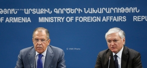 Joint press conference of Foreign Minister of Armenia Edward Nalbandyan and  Foreign Minister of Russia Sergey Lavrov
