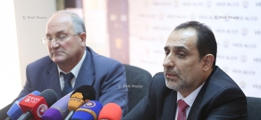 Press conference of RPA member Samvel Nikoyan and National Consent party Leader Aram Harutyunyan