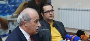 Press conference of the Member of 'New Armenia' font's council Andreas Ghukasyan and RPA member Khosrov Harutyunyan
