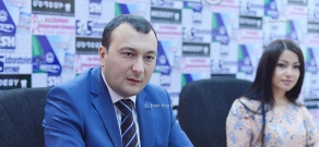 Press conference of secretary of Prosperous Armenia (PAP) parliamentary faction Vahe Enfiajyan