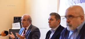 Press conference of RPA member Khosrov Harutyunyan and the head of Caucasus Institute, political scientist Alexander Iskandaryan