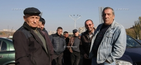 Taxi drivers hold motor portest demanding systemic reforms in the transport sector in Armenia