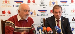 Press conference of National Self Determination Union's leader Paruyr Hayrikyan and RPA member Artak Davtyan