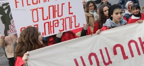 """Stop Violence against Women"" Coalition's march in Yerevan"