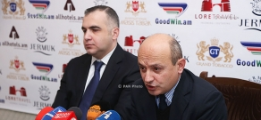 RPA Faction member Levon Martirosyana and President of Armenian Institute for International and Security Affairs Stepan Safaryan