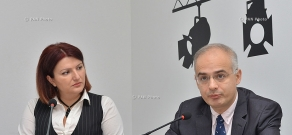 Press conference of Levon Zurabyan, the head of Armenian National Congress faction and 'No' Front