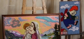 40 gobelin tapestry pieces, made by members of missing persons' families of Vedi, Ararat province
